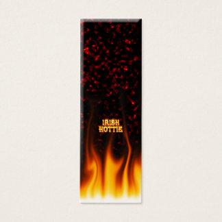 Irisches hottie Feuer und Flammen Rotmarmor Mini Visitenkarte