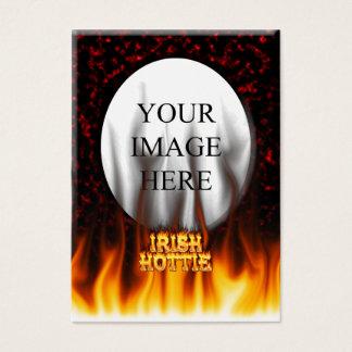 Irisches hottie Feuer und Flammen Rotmarmor Visitenkarte