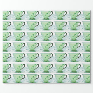Irisches Kleeblatt-Tee-Schalen-Verpackungs-Papier Geschenkpapier