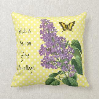 Irisches Land-lila botanischer Garten Kissen
