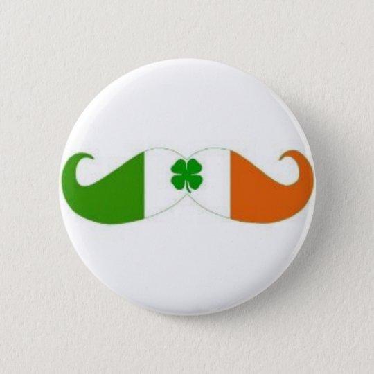 Irisches Schnurrbart-Abzeichen Runder Button 5,1 Cm