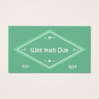 Irisches Thema Visitenkarte