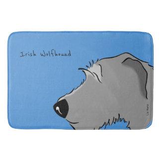 Irish Wolfhound Head Badematte