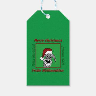 Irish Wolfhound Weihnachten Geschenkanhänger