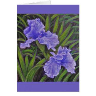 Iriskarte Grußkarte