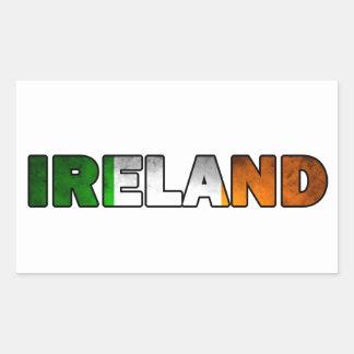 Irland-Aufkleber Rechteckiger Aufkleber