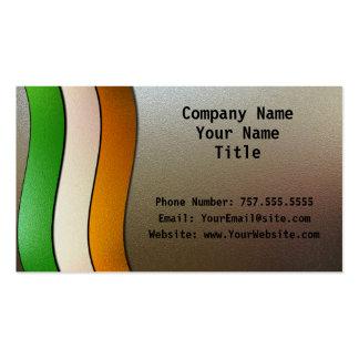 Irland-Flagge Farbe-Chrom Visitenkartenvorlagen