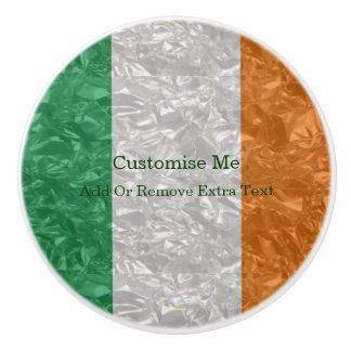 Irland-Flagge - gekrümmt Keramikknauf