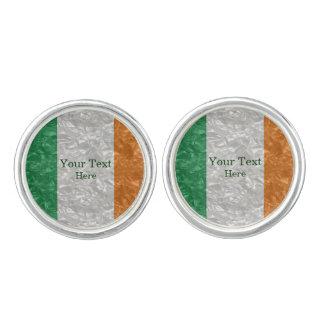 Irland-Flagge - gekrümmt Manschetten Knöpfe