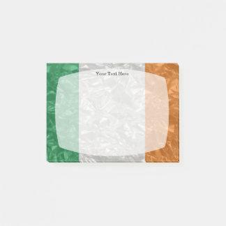 Irland-Flagge - gekrümmt Post-it Klebezettel