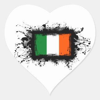 Irland-Flagge Herz-Aufkleber