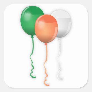 Irland-Flaggen-Ballone Quadratischer Aufkleber