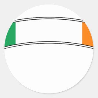 Irland-Flaggen-Band Runder Aufkleber