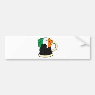 Irland-Flaggen-Bier-Tasse Autoaufkleber