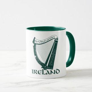 Irland-Harfen-Entwurf, irische Harfe Tasse