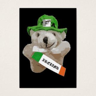 Irland, irischer Kobold-Teddybär, schwarz Visitenkarte