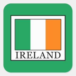 Irland Quadratischer Aufkleber