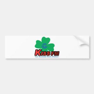 Irlands KUSS FM Autoaufkleber