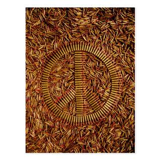 Ironie, Friedenszeichen, Kugeln, Munition Postkarte