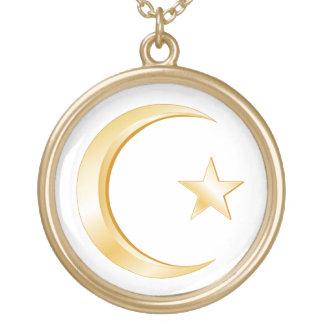 Islam-Symbol Halskette Mit Rundem Anhänger