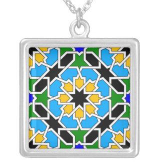 Islamische geometrische Muster Halskette