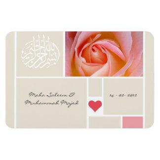 Islamischer Rose Quran-Hochzeit Quran Save the Eckige Magnete