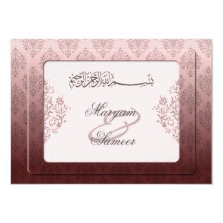 Islamisches königliches Hochzeits-Verlobung 11,4 X 15,9 Cm Einladungskarte