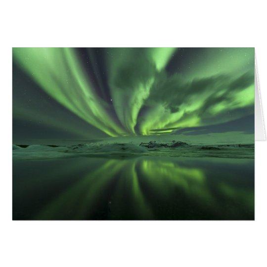 Island-Aurora. Die Nordlichter Grußkarte