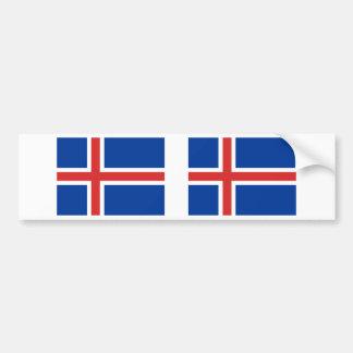 Island-Flagge Autoaufkleber