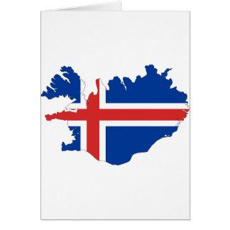 Island-Flaggen-Karte Grußkarte