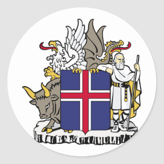 Island, Island Runder Aufkleber