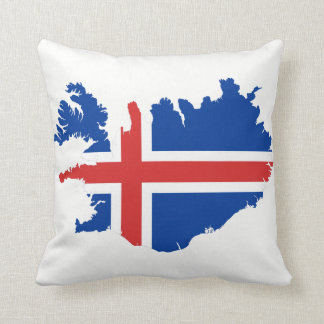 Island-Kartenflagge Kissen