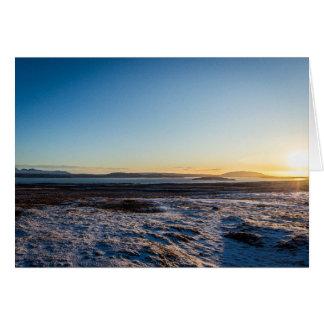 Island-Sonnenaufgang Karte