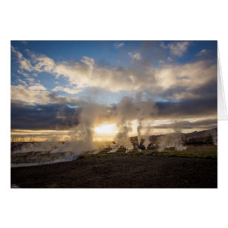 Island-Sonnenuntergang Karte