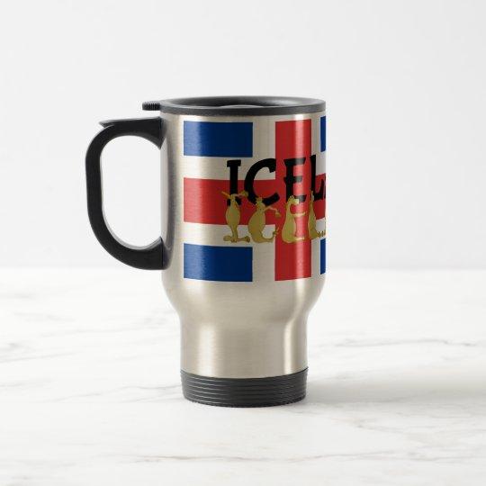 Isländische Flagge des Pferd  von Island Edelstahl Thermotasse