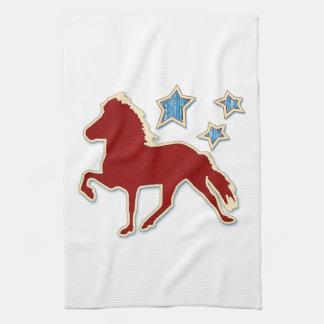 Isländisches Pferdefestliche Sterne Handtuch