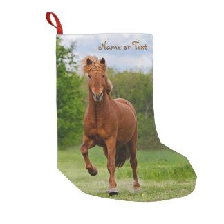 Isländisches Pony Tölt lustiges Foto-Pferd - Name Kleiner Weihnachtsstrumpf