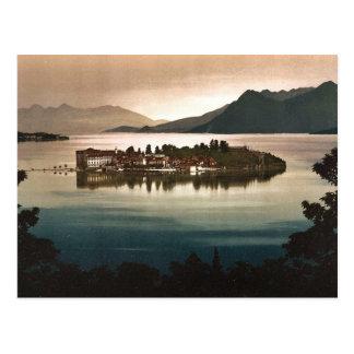 Isola Bella durch Mondschein, Maggiore, See von, Postkarte