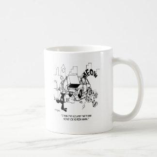 Isolierung dass lustige Geräusche Kaffeetasse