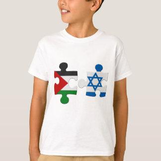 Israel- und Palästina-Konflikt-Flaggen-Puzzlespiel T-Shirt