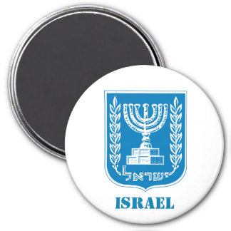 Israel-Wappen Küchen-Magneten Runder Magnet 7,6 Cm
