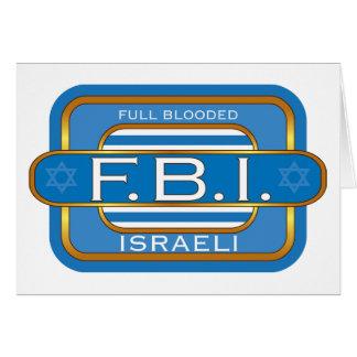 Israeli F B I Karte