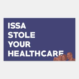 ISSA stahl Ihren Gesundheitswesen-Aufkleber Rechteckiger Aufkleber