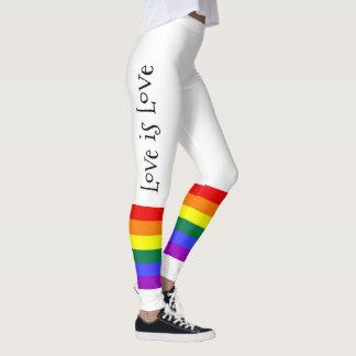 Ist bunte Regenbogen-Liebe des Gay Pride-LGBT Leggings