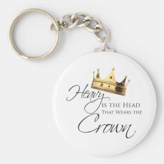 Ist der Kopf schwer, der die Krone trägt Schlüsselanhänger