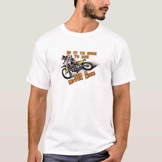 Ist es, zu bald, zum für ein Bewegungsfahrrad zu T-Shirt