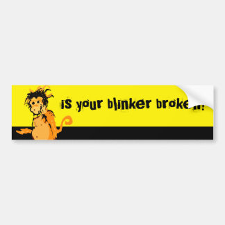 ist Ihr gebrochener Blinker? Autoaufkleber