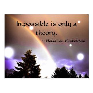 Ist nur eine Theorie-Motivations-Inspiration Postkarte