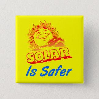 Ist sichererer Energie-Slogan-Knopf Solar Quadratischer Button 5,1 Cm