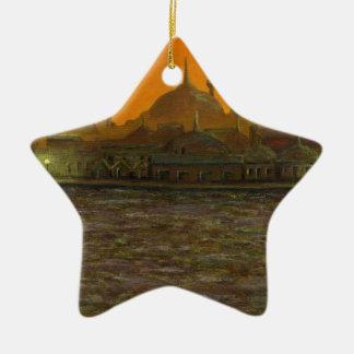 Istanbul Türkiye/die Türkei Keramik Stern-Ornament